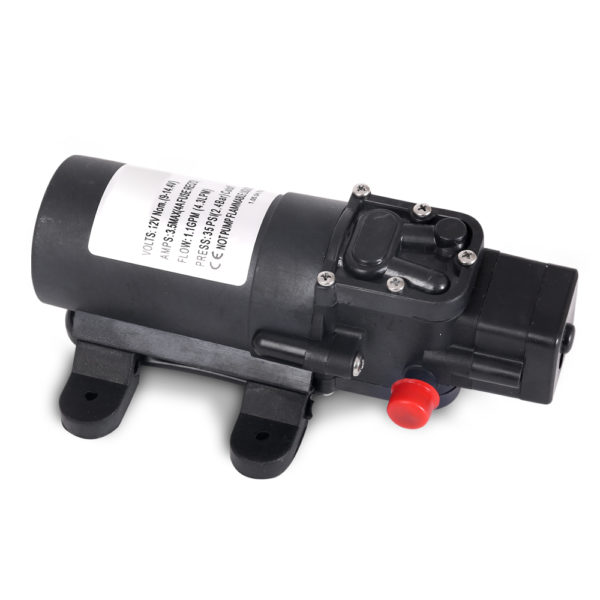 Portable Water Pressure Shower Pump 4.3L/M 35 PSI 12V