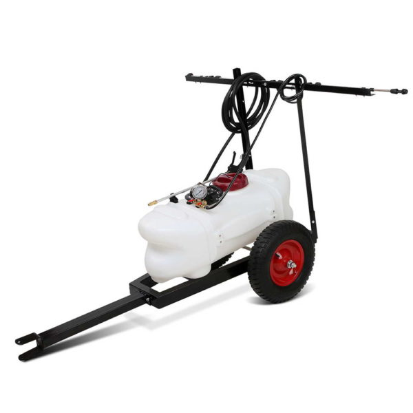 ATV Weed Sprayer Garden Farm Pump 60L Tank with Heavy Duty Trailer and 1.5M Boom