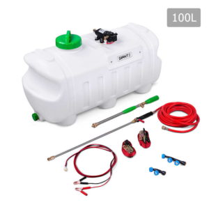 ATV Garden Weed Sprayer Pump 100L 12V 80PSI with 3 Nozzles