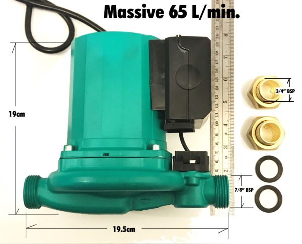 Massive Hot Water Booster Pump 65 l side view 2