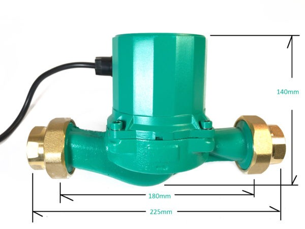 Hot Water Booster Pump dimensions