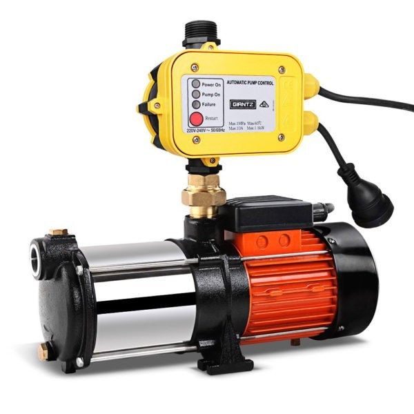 Multi Stage High Pressure Garden Farm Rain Tank Irrigation Water Pump 1800W – Yellow