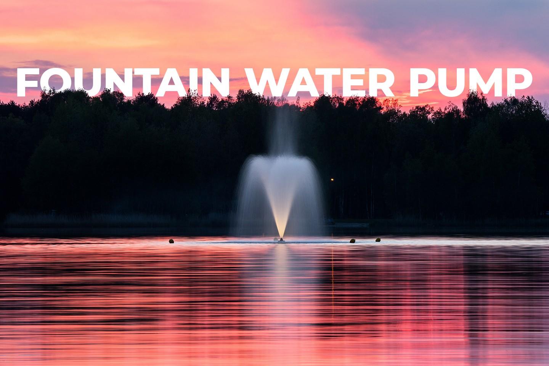 Fountain water pump
